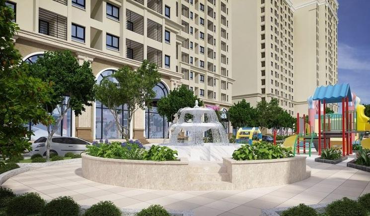 Tiện ích cao cấp Đài phun nước ở Chung cư Ruby City CT3