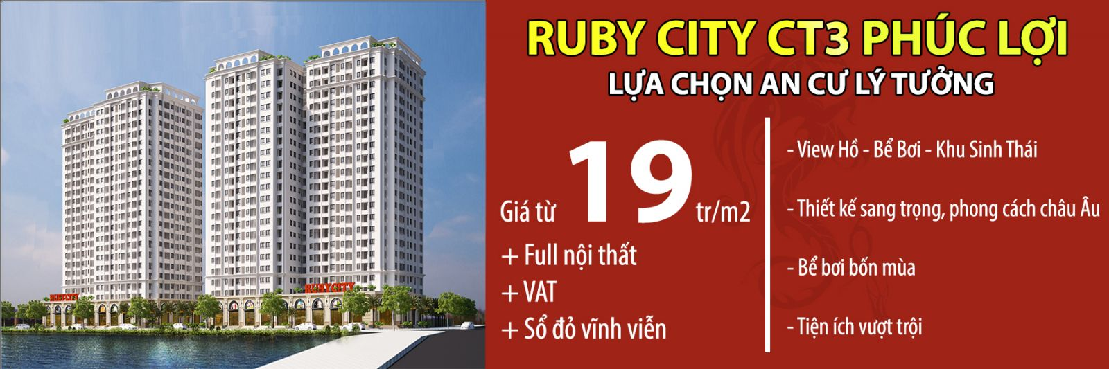 Mở bán Chung cư Ruby City CT3 giá đầu tư