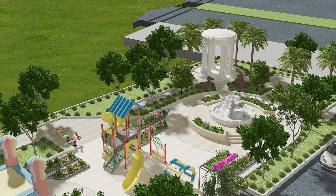 Tiện ích cao cấp Khu vui chơi ngoài trời tại Dự án Chung cư Ruby City CT3