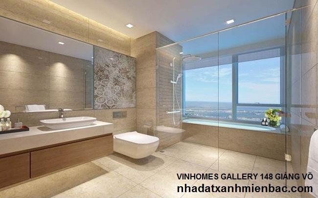Nội thất phòng tắm rộng rãi và sang trọng Vin Giảng Võ