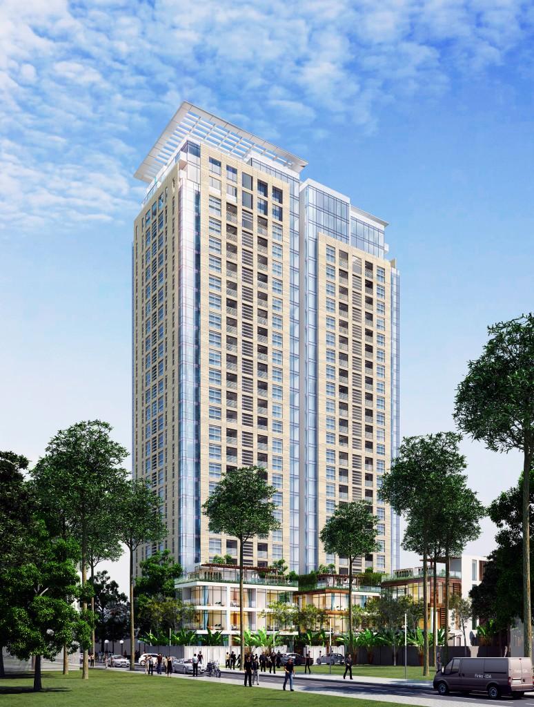 Phối cảnh Dự án Chung cư Hải Đăng Tower HD Mon Central 29 Láng Hạ