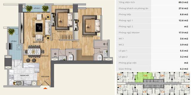 Thiết kế Căn hộ Mon Central 29 Láng Hạ