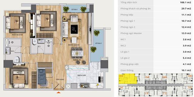 Thiết kế căn hộ Chung cư Mon Central 29 Láng Hạ