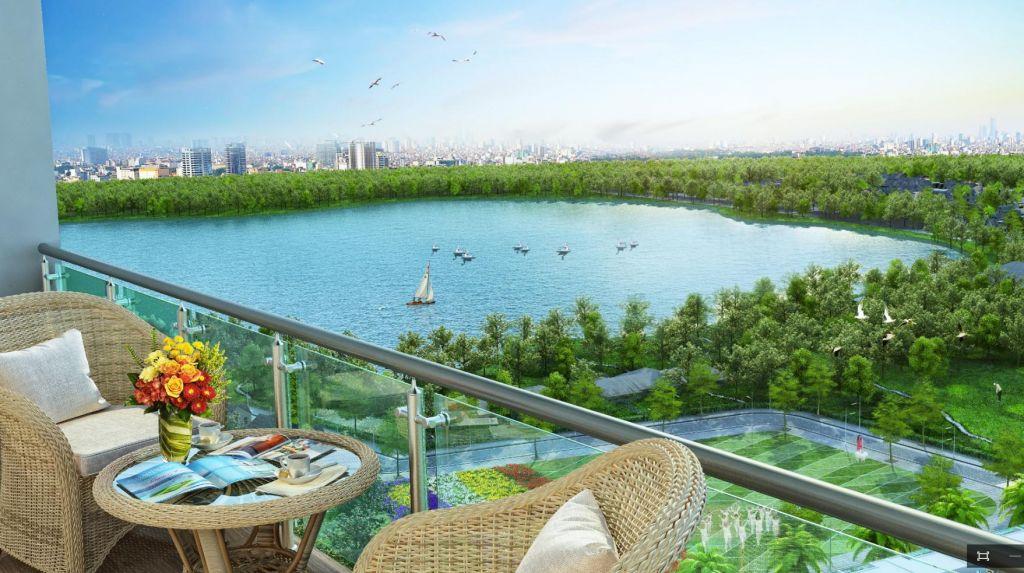 Từ căn hộ 29 Láng Hạ, phóng tầm mắt về các Hồ nước xanh mát Thành Công, Hoàng Cầu, Ngọc Khánh