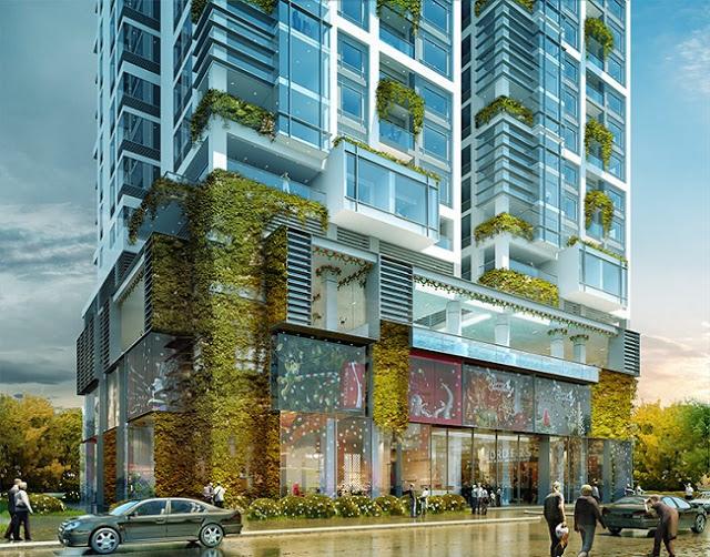 Trung tâm thương mại được bố trí tại Khối đế mỗi tòa Chung cư The Manor Nguyễn Xiển