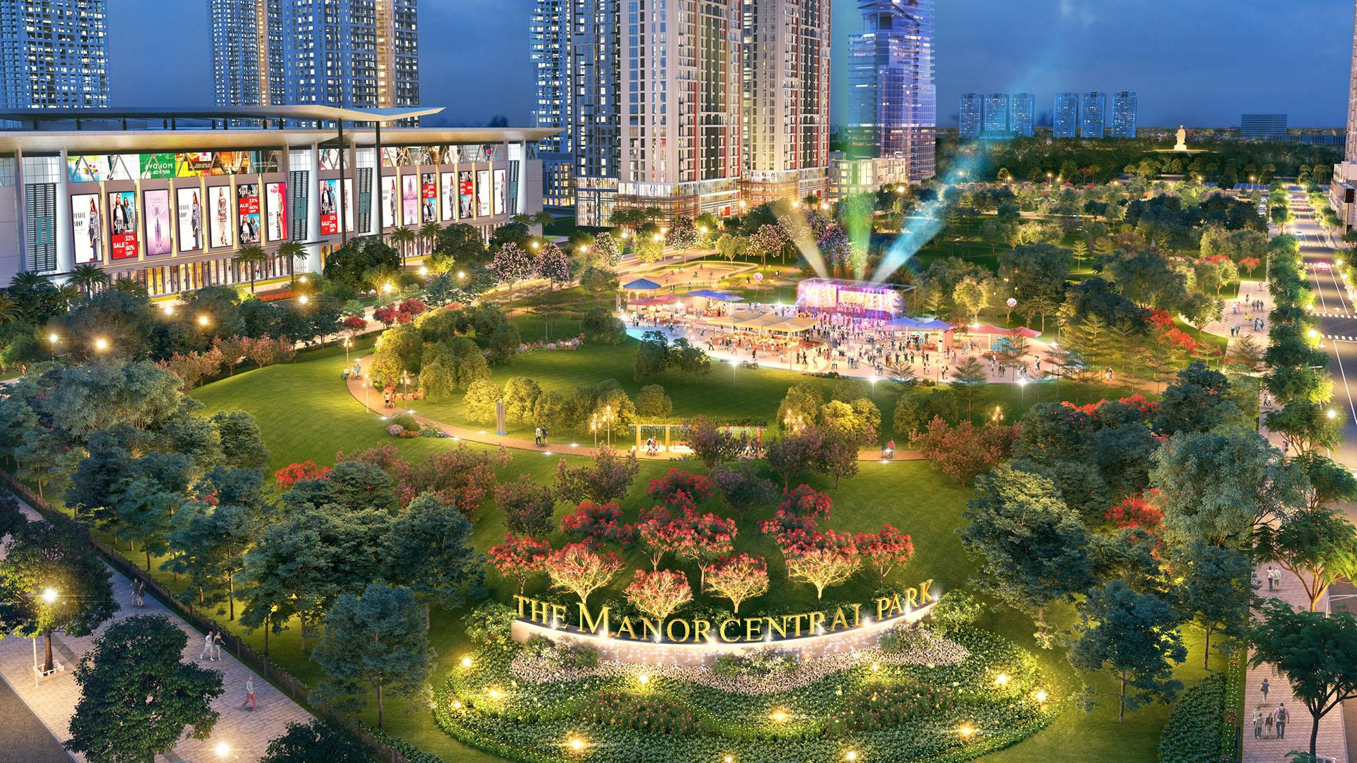 Công viên trung tâm 6,6 ha Trái tim Dự án The Manor Central Park