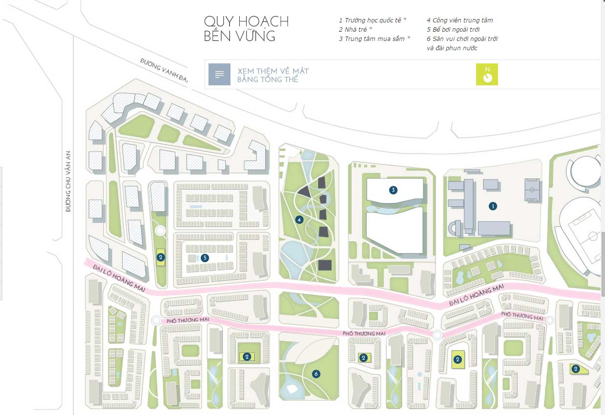 Quy hoạch phân khu chức năng tại The Manor Central Park tiêu chuẩn Quốc Tế