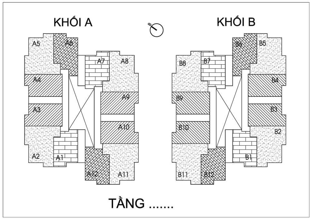Mặt bằng điển hình căn hộ Chung cư Thống Nhất Complex