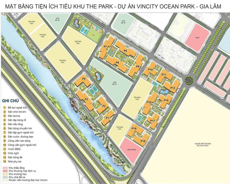 phân khu the park dự án chung cư Vincity Hà Nội Gia Lâm