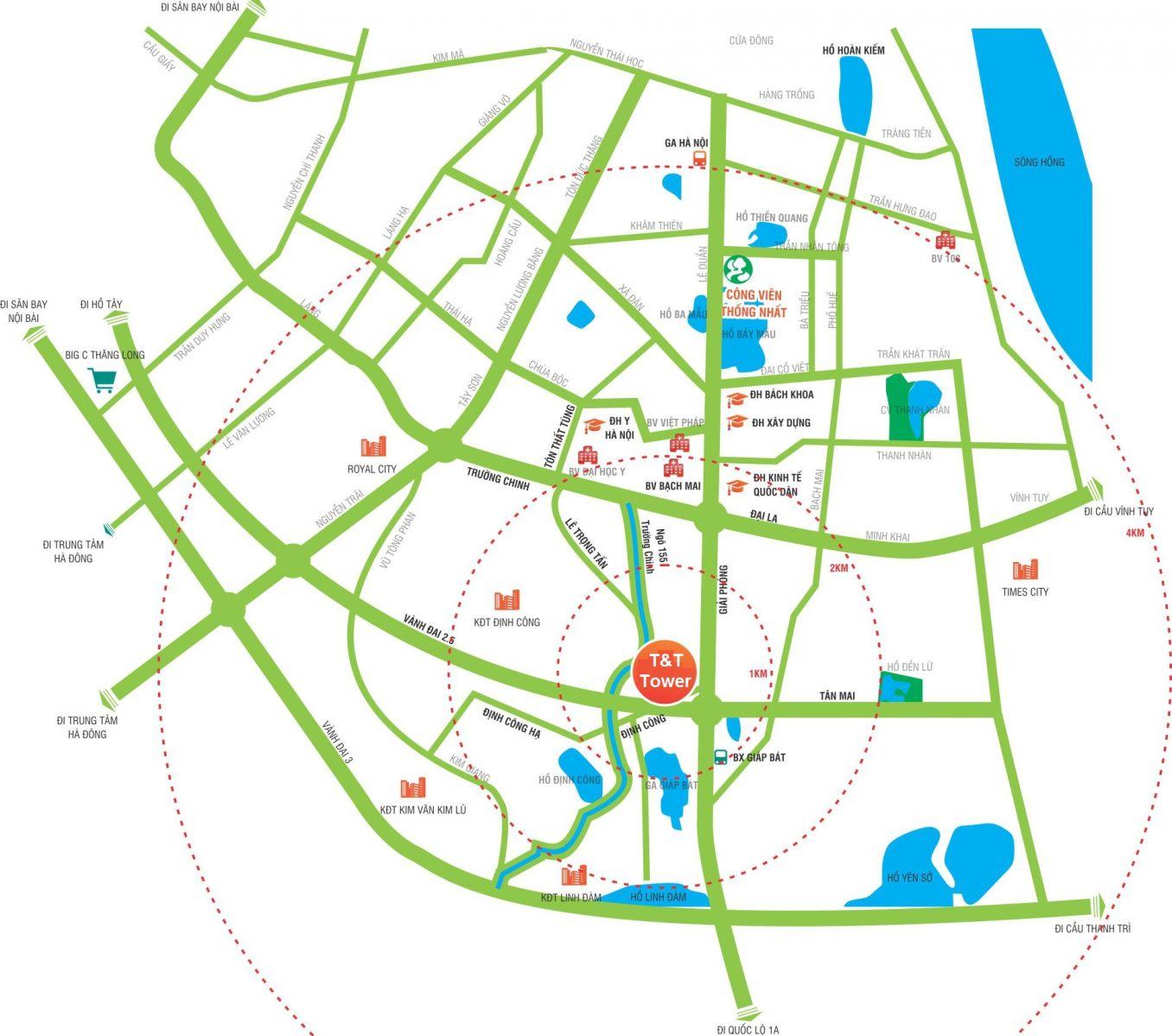 Dự án 120 Định Công sở hữu Vị trí Vàng đắc địa mặt đường vành đai 2.5
