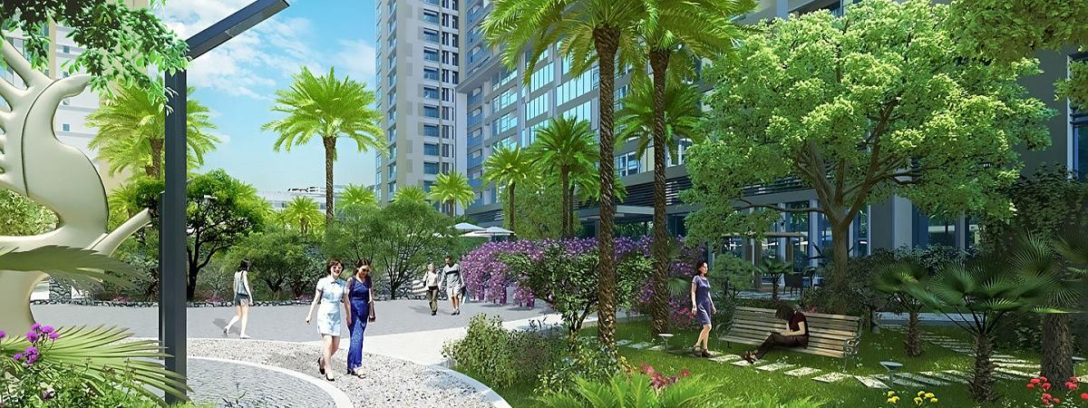 Dự án Chung cư 120 Định Công có khuôn viên Xanh mát