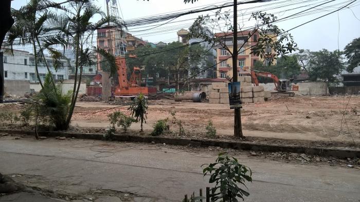Dự án Chung cư 120 Định Công đang khẩn trương làm móng