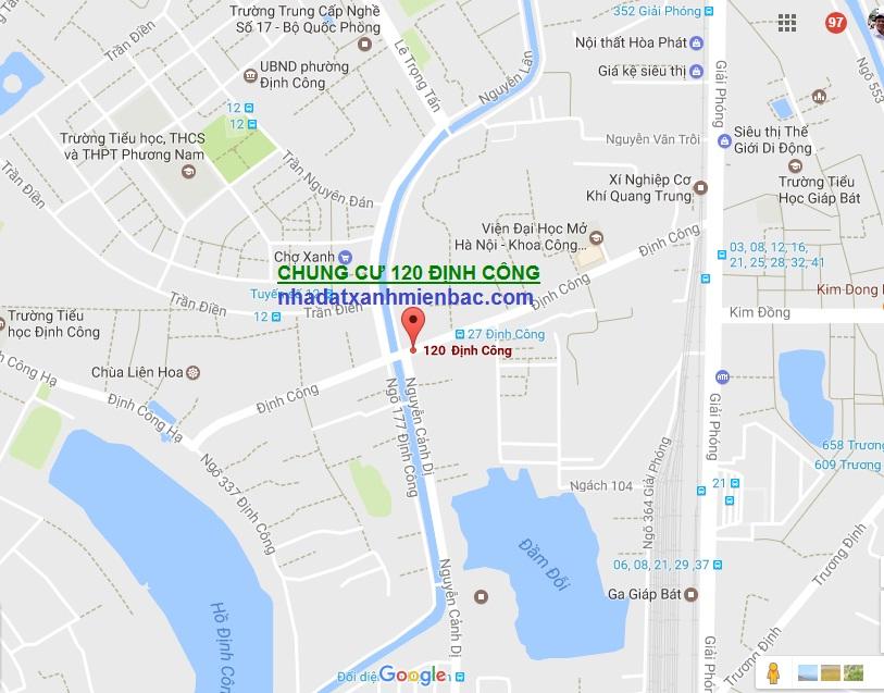 Vị trí đắc địa Tổ hợp Dự án Chung cư 120 Định Công