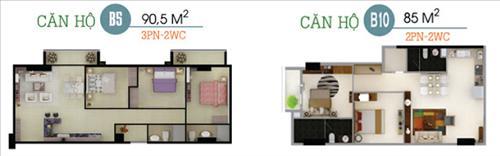 Mặt bằng phối cảnh căn hộ tại Dự án chung cư 16 Láng Hạ Oriental Plaza