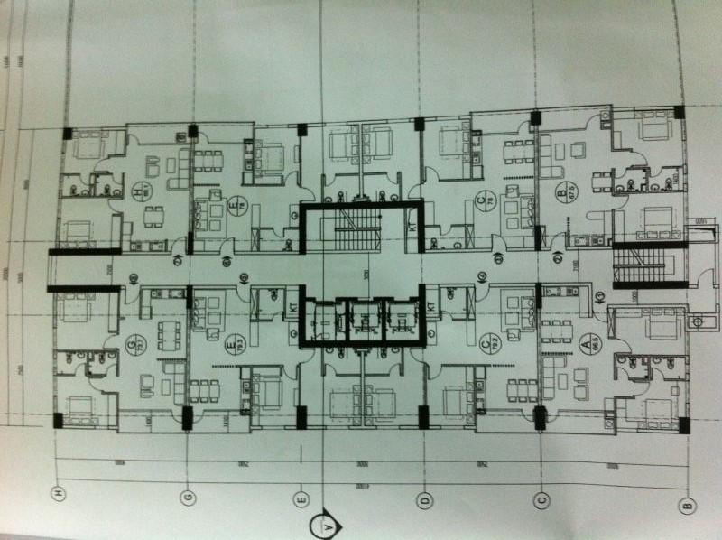 Mặt bằng tầng điển hình Dự án Chung cư 23 Duy Tân Cầu Giấy
