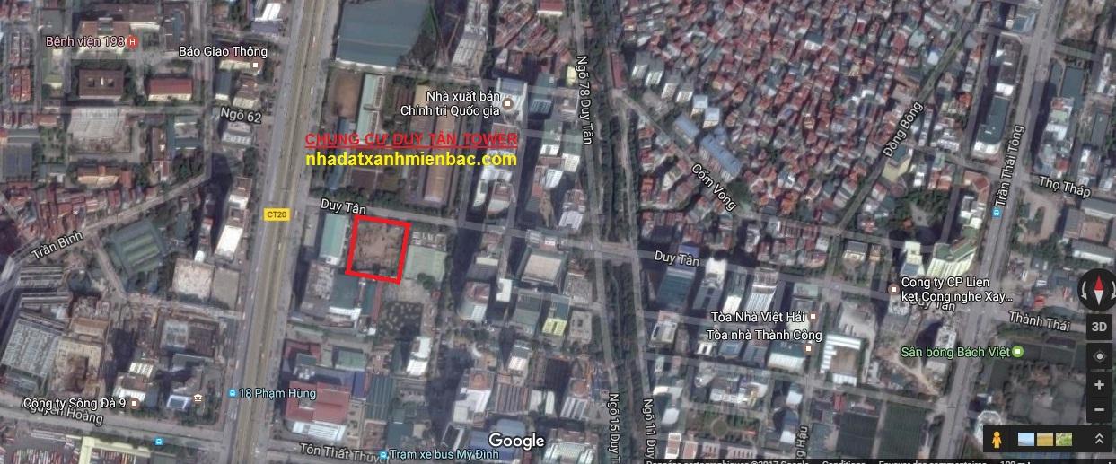 Dự án Chung cư 23 Duy Tân tọa lạc vị trí đắc địa