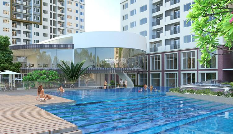 Tiện ích bể bơi ngoài trời tại chung cư 31 Láng Hạ Sungroup