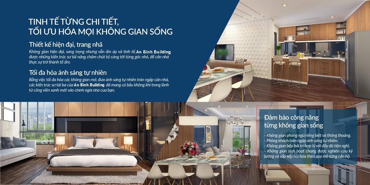 Nội thất Bàn giao hoàn hảo trong căn hộ Chung cư An Bình 1 Định Công