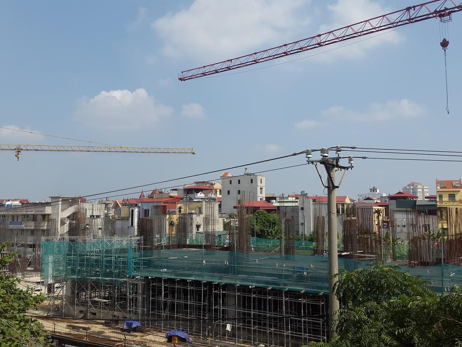 Cập nhật tiến độ thi công dự án chung cư C1 C2 Xuân Đỉnh