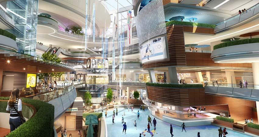 Với 5 tầng Thương Mại là địa chỉ mua sắm sầm uất Chung cư Duy Tân Tower