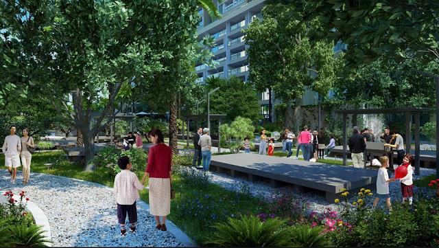 Tiện ích khuôn viên xanh là điểm nhấn tại Chung cư CT8 Mỹ Đình