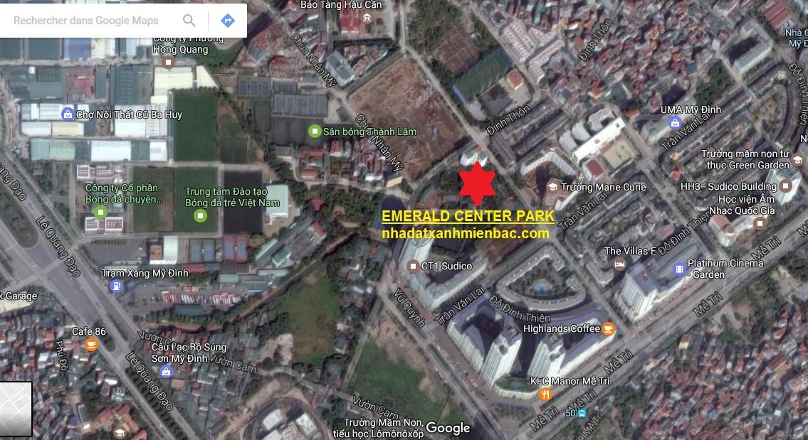 Vị trí Dự án Chung cư EMERALD CENTER PARK CT8 Mỹ Đình