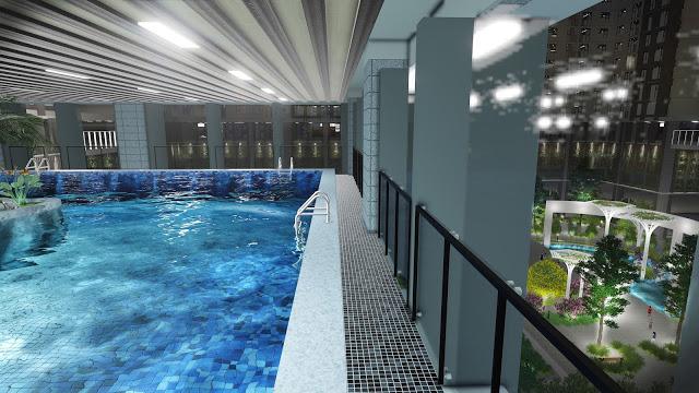 Tiện ích bể bơi 4 mùa tại Tổ hợp Dự án Chung cư Golden Palace A Mễ Trì - Phú Đô
