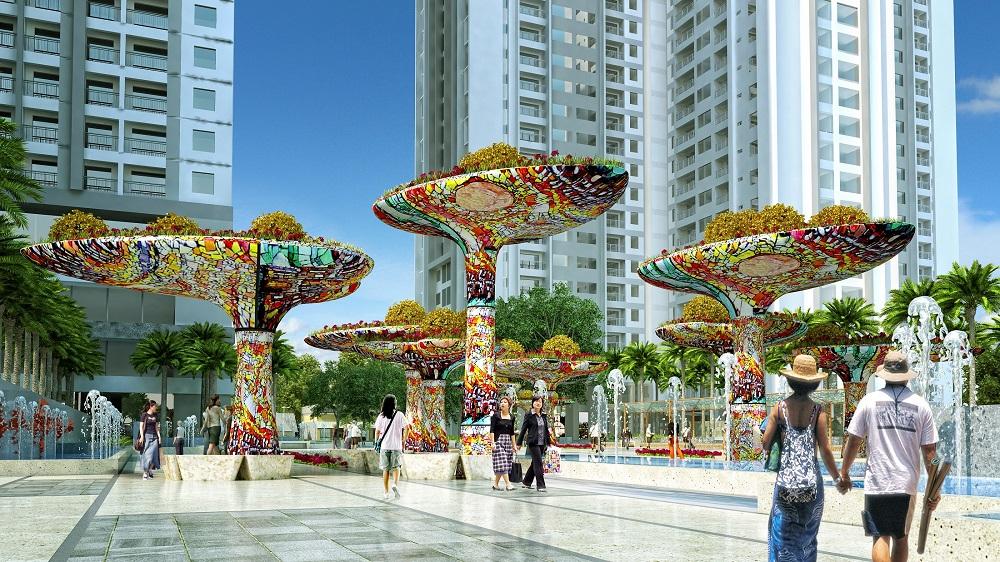 Dự án Chung cư Goldmark City nổi bật với không gian xanh mát trong lành