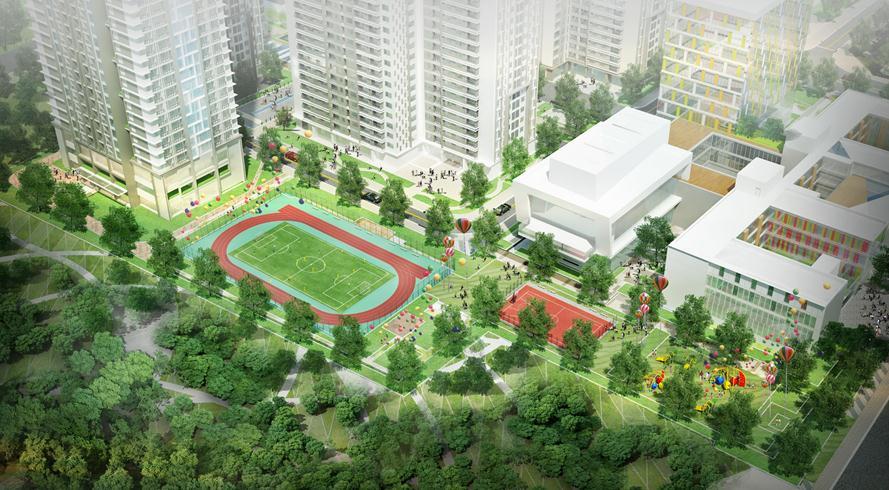 Sân bóng đá phục vụ nhu cầu của cư dân đam mê Túc Cầu tại Goldmark City