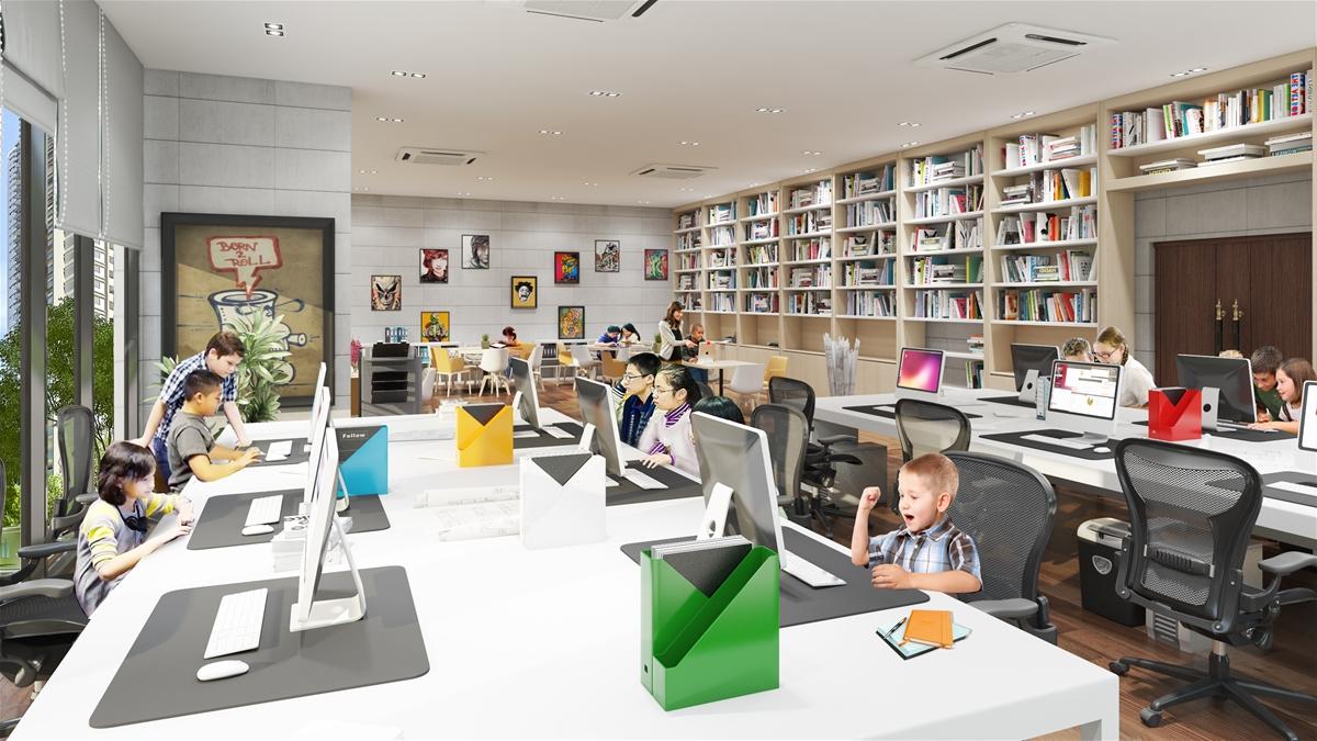 Phòng đọc sách tại Dự án HATECO Xuân Phương