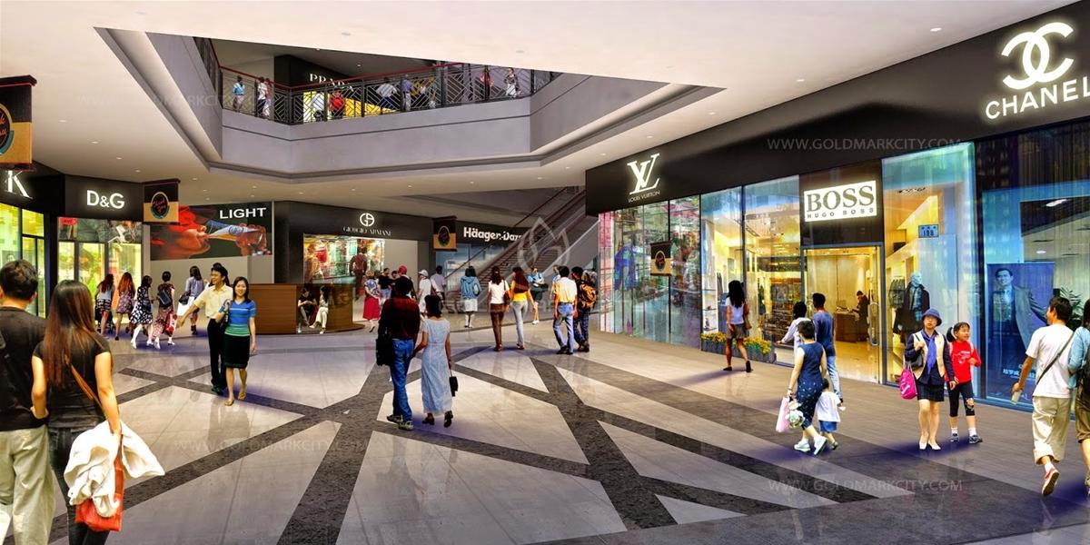 Tiện ích cao cấp Trung tâm thương mại bố trí tại khối đế Chung cư HATECO Xuân Phương
