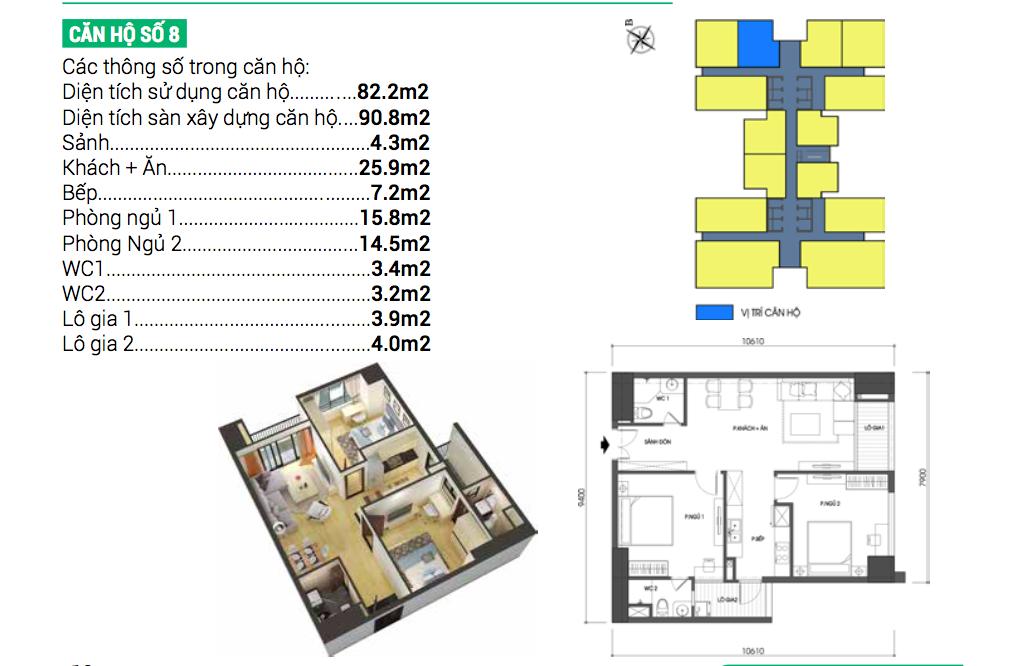Căn hộ số 8 dự án chung cư Housinco Grand Tower