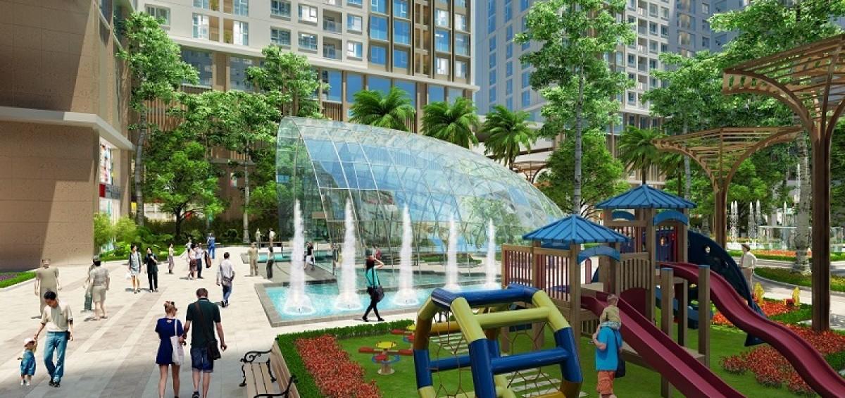 Dự án Imperia Sky Garden bao bọc bởi khuôn viên xanh mát