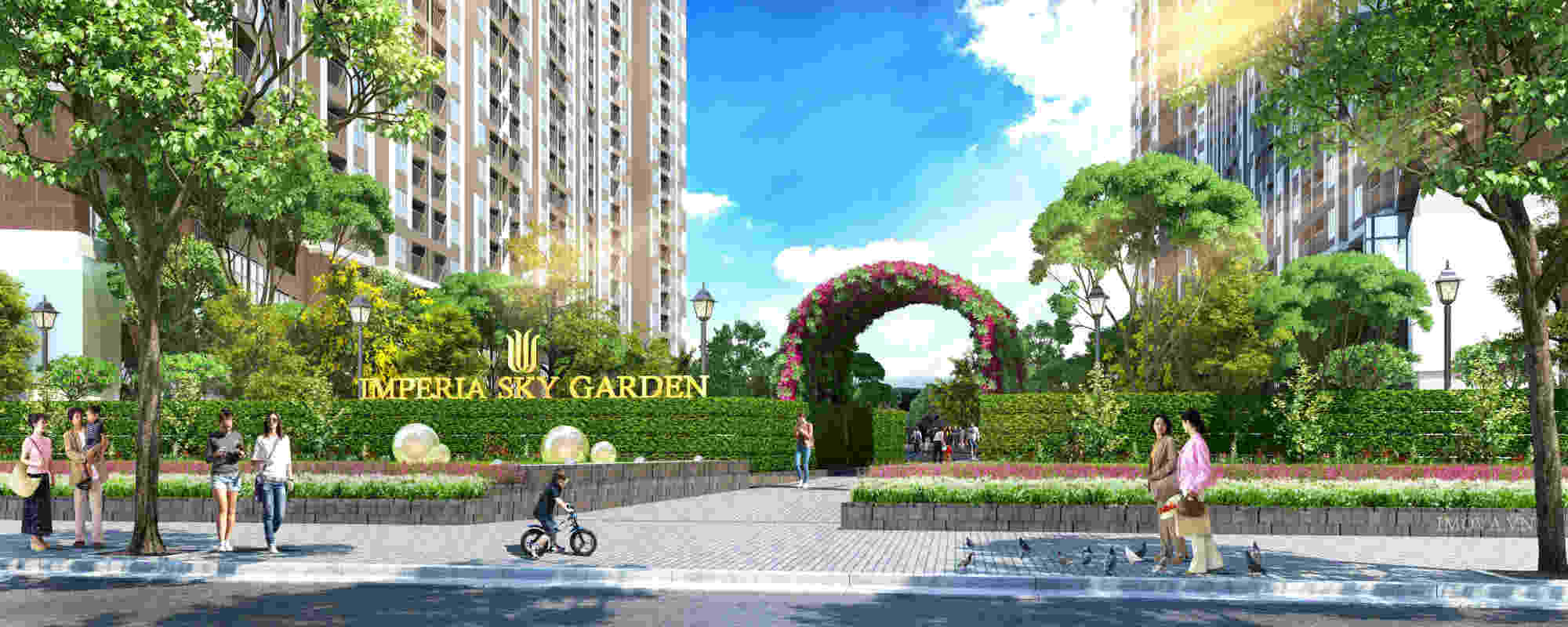 Cổng chào chung cư Imperia Sky Garden