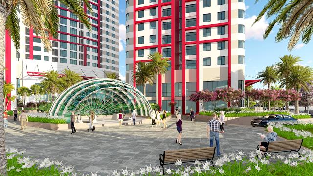 Khuôn viên sắc nét là điểm nhấn quyết định sự thành bại của chung cư 360 Giải Phóng