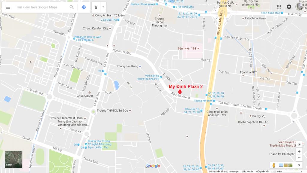 Vị trí Vàng đắc địa Trung Tâm của Chung cư Mỹ Đình Plaza 2