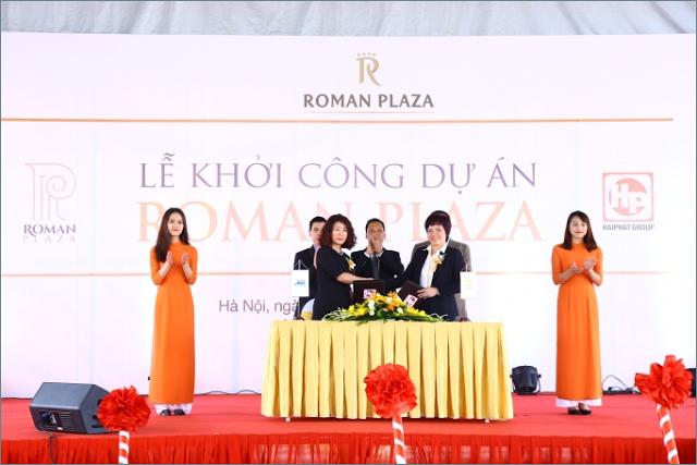 Lễ Khởi Công dự án chung cư Roman Plaza Hải Phát tháng 10 năm 2016