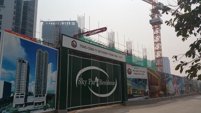 Ảnh cập nhật mới nhất về dự án chung cư Sky Park Residence Tôn Thất Thuyết