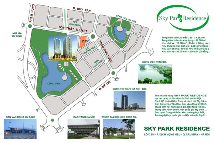 Dự án chung cư Sky Park Residences Tôn Thất Thuyết vị trí vàng