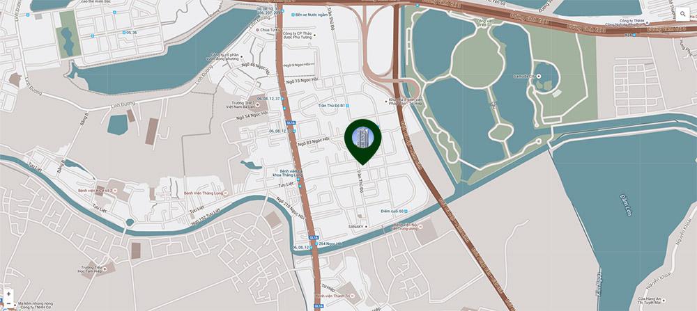 Vị trí Trung tâm Quận Hoàng Mai của Chung cư số 1 Trần Thủ Độ