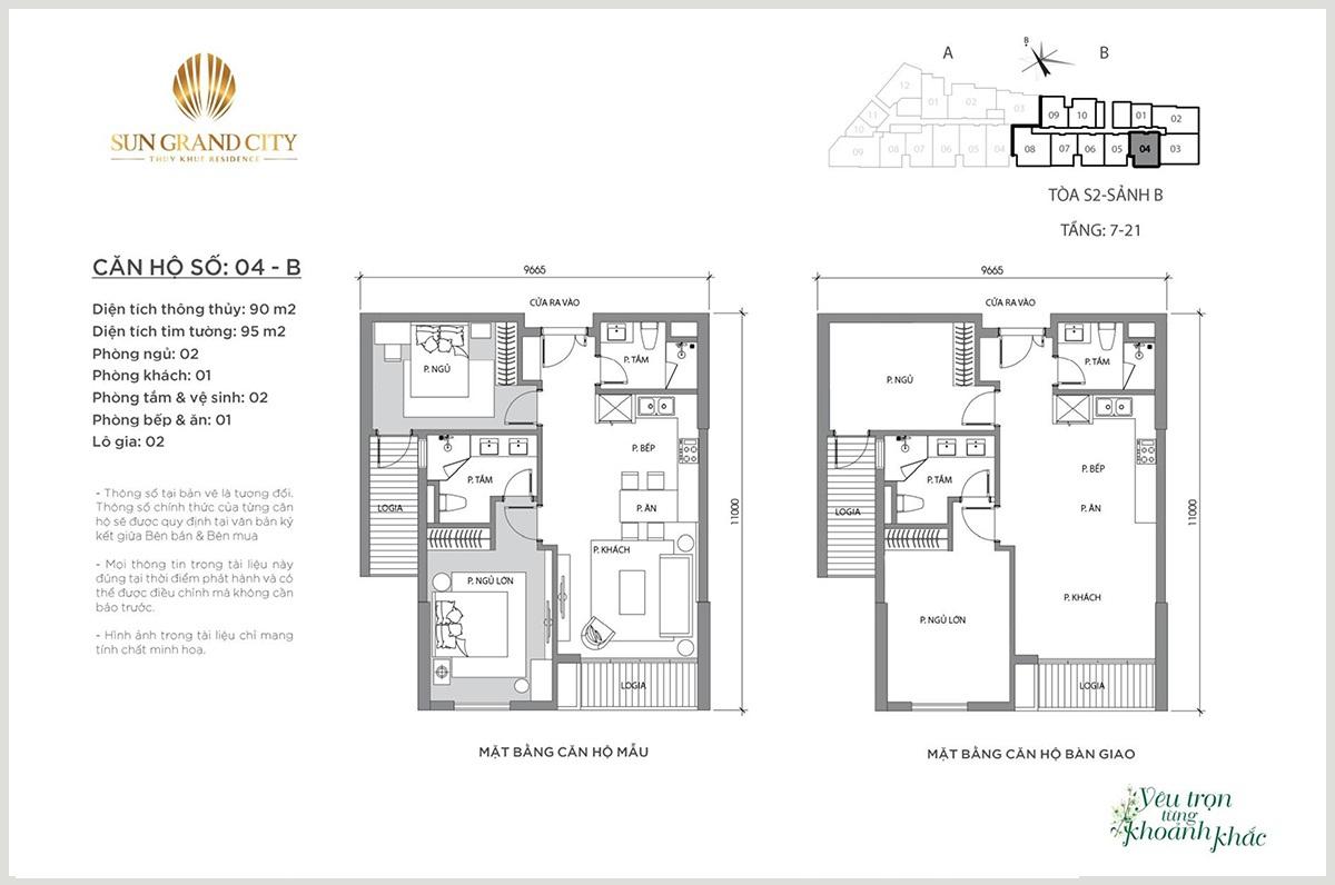 Thiết kế căn hộ chung cư hạng sang Sun Grand City