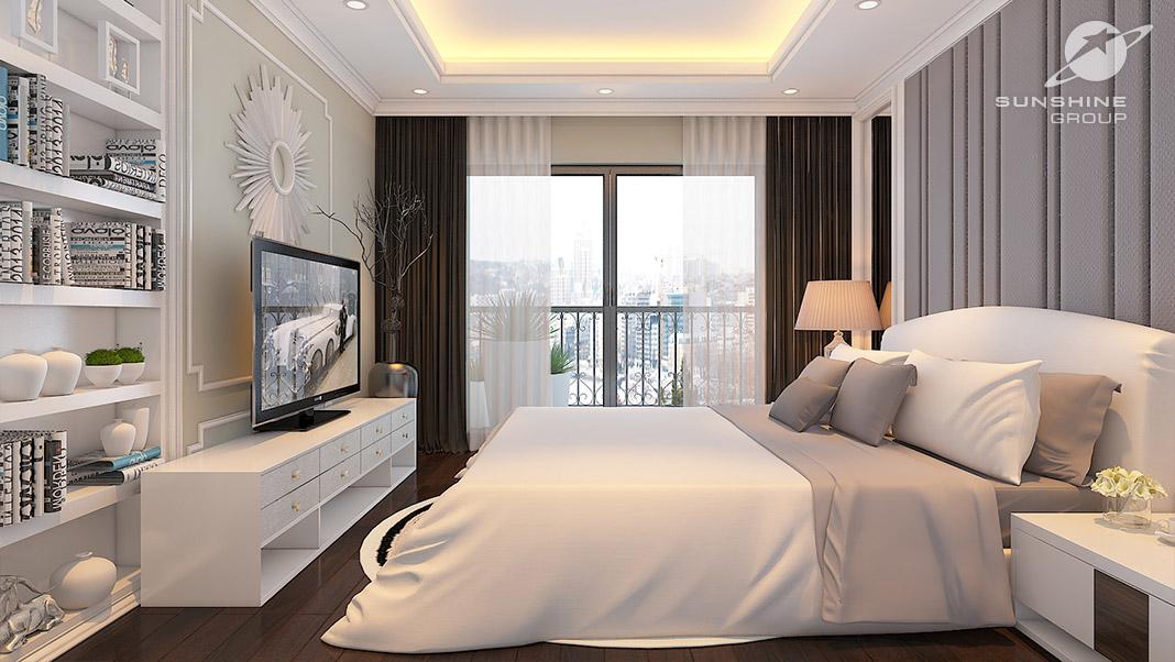 Nội thất cao cấp phòng ngủ dự án chung cư Sunshine Center Mai Trang Tower