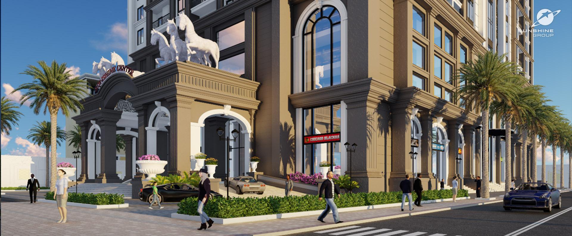 Kiến trúc tuyệt đẹp Châu Âu tân cổ điển tại chung cư Sunshine Center