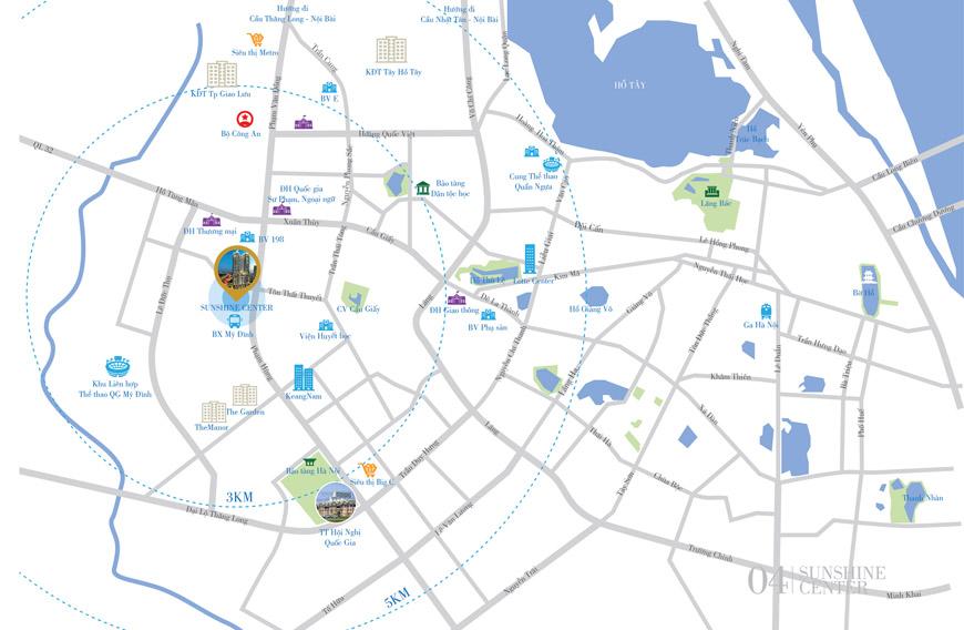 Vị trí Vàng đắc địa Chung cư Sunshine Center Mai Trang Tower - Trung tâm của Trung tâm