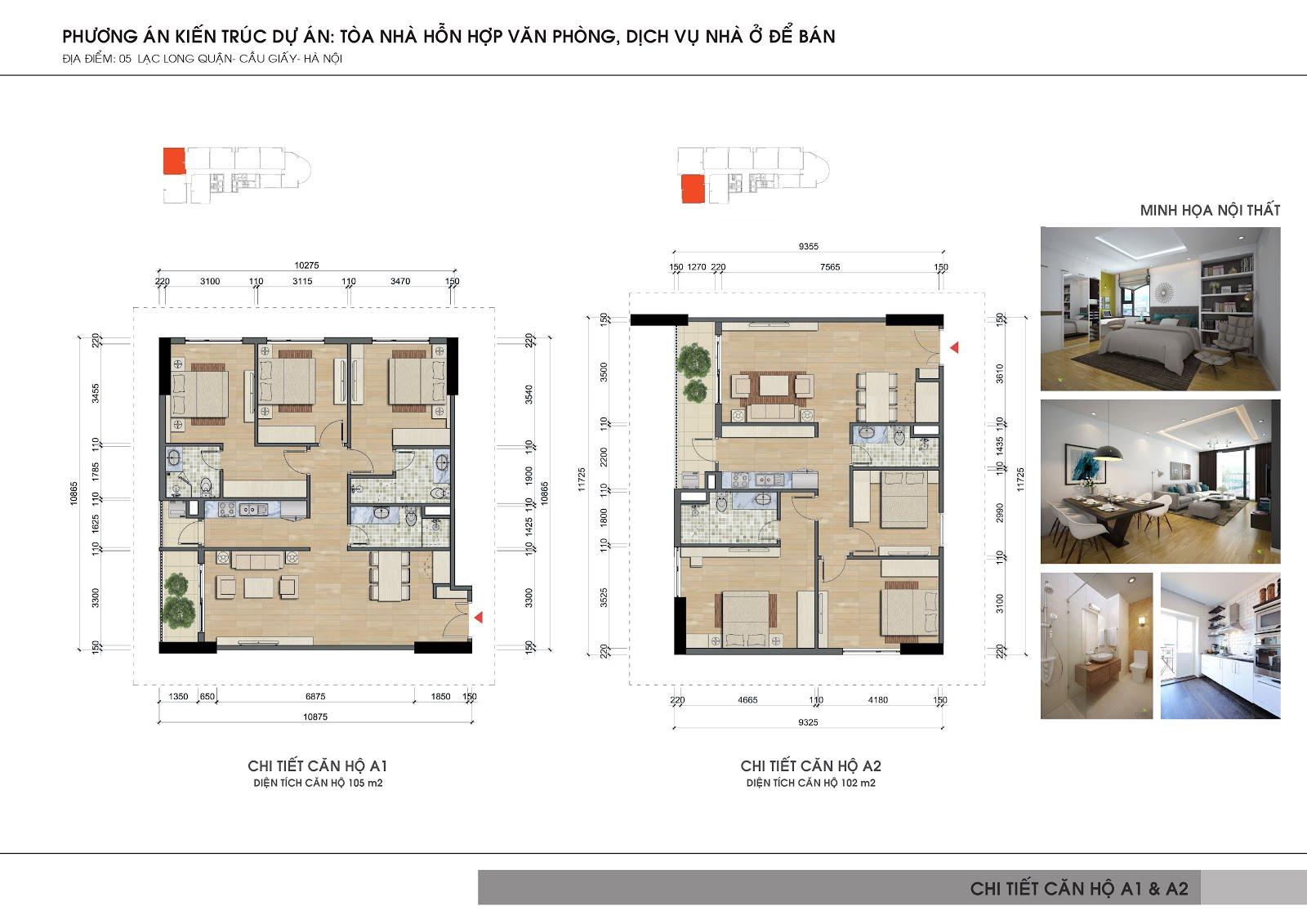 Thiết kế căn hộ Videc Lake View Lạc Long Quân đậm chất Á Đông vuông vắn