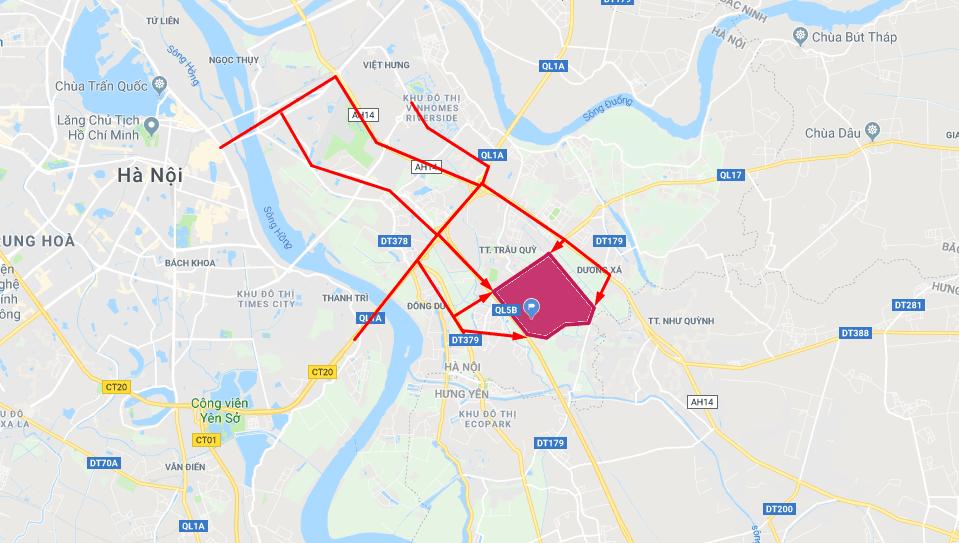vị trí dự án chung cư Vincity Hà Nội Gia Lâm