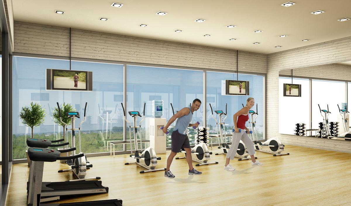 Dự án chung cư Vincity Gia Lâm bố trí nhiều không gian tập thể dục