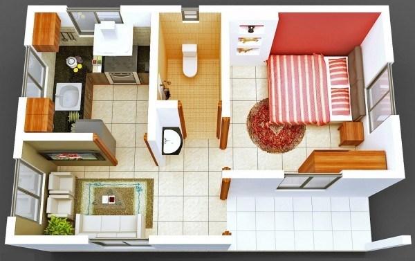 Phối cảnh căn hộ 35 m2 Vincity Hà Nội Tây Mỗ Đại Mỗ