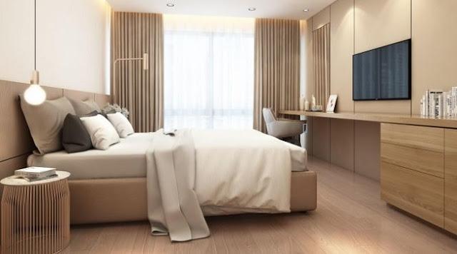 Nội thất phòng ngủ sang trọng chung cư Vincity Hà Nội Tây Mỗ Đại Mỗ