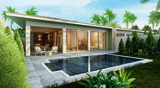 Bể bơi nước mặn tại dự án FLC Lux City Samson